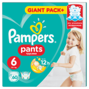 Pampers Giant PieluchomRoz6,60sztuk