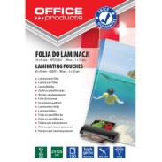 Folia do laminowania Office Products, 65x95mm, 2x125mikr., błyszcząca, 100szt., transparentna