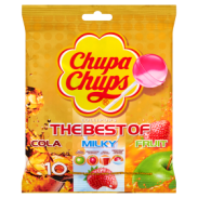 Chupa Chups The Best of Cola Milky Fruit Lizaki wielosmakowe 120 g