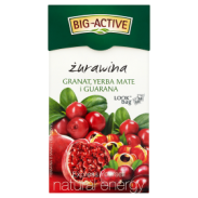 Big Active Herbata Żurawina Yerba Mate,Guarana 20 Torebek