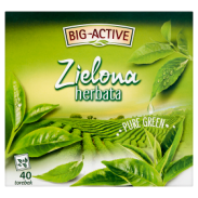 Big Active Herbata Zielona Gun Powder Pure Green 72 g (40 torebek)