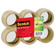 Taśma pakowa do wysyłek SCOTCH® Hot-melt (371) 50mm 66m transparentna