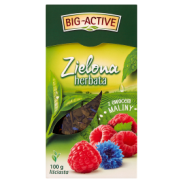 Big Active Herbata Green Z Maliną 100g