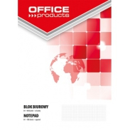 Blok biurowy Office Products, A4, w kratkę, 100 kart, 70gsm