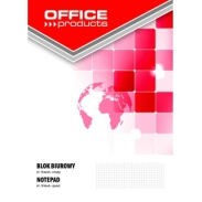 Blok biurowy Office Products, A4, w kratkę, 50 kart, 70gsm